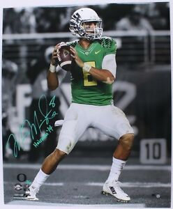 """MARCUS MARIOTA Signed / Inscribed """"Dropback"""" 20x24 Photograph STEINER LE 14/14"""