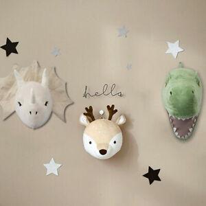 Kids Room Decor 3D Felt Wall Hanging Dinosaur Head Doll Stuffed Plush Toys H