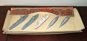 Vintage Tootsietoy Mosquito Fleet Ship Submarine Set with original box RARE!