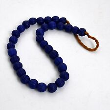 Melon Blue Glass Beads Necklace Nepalese Nepal Ethnic Tribal Trade UNS174