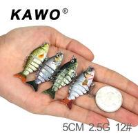 Hard Lure Fishing Swimbait Glide Swimming 6 Segments Fishing Lure Baits 5cm/2.5g