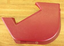 1990-92 CADILLAC BROUGHAM COVER FOR RH FRONT SEAT BELT RETRACTOR  RED / BURGUNDY