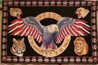 Rare Vintage American Eagle Peace In Our Country Peace In The World 52 X 35
