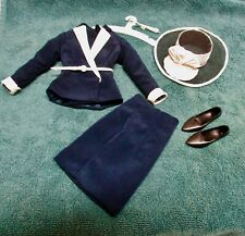 FRANKLIN MINT PRINCESS DIANA DOLL INSPECTING THE GUARD ENSEMBLE NAVY SUIT