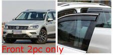 Volkswagen VW TIGUAN MK2 2017 2018 SIDE WIND DEFLECTOR WINDOW TINTED SMOKE VISOR
