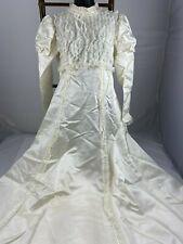 Vintage Wedding Dress White w/ Veil