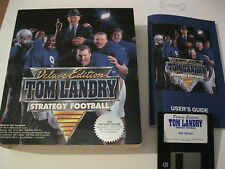 "Tom Landry Strategy Football Deluxe Edition PC game 3.5"" disks complete Merit"