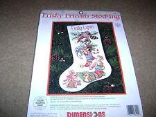 "Dimensions Cross Stitch Kit...Frisky Friends Christmas Stocking...16""...NEW"