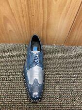 Giorgio Brutini Blue/Grey Leather Dress Shoe Size 15