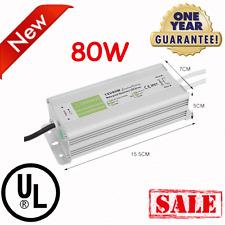 80 Watt Waterproof LED Power Supply Driver Transformer 12Volt DC Adapter SALE VP