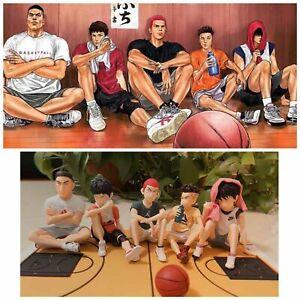 New 5PCS Set SLAM DUNK SHOHOKU Basketball Team Figure US Seller