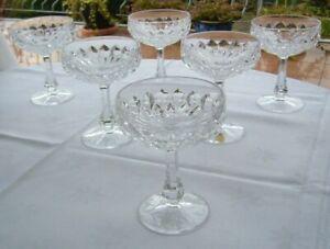6 Sektgläser Sektschalen Glas über 24% Bleikristall BAVARIA MADE IN W GERMANY