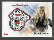 SUPER RARE 2014 TOPPS OLYMPIC KATIE EBERLING SOCHI PIN CARD ~ USA BOBSLED GREAT