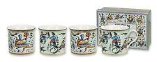 Heath McCabe Empress MAIOLICA Cocciatte Set of 4 Mugs 26774