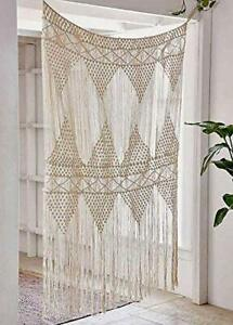 "Macrame Curtain Large Wall Hanging Bohemian Wedding Decor, 50"" w x 75"" h"