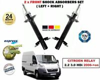 FOR CITROEN RELAY 2.2 3.0 HDi 2006->on 2X FRONT LEFT + RIGHT SHOCK ABSORBERS SET