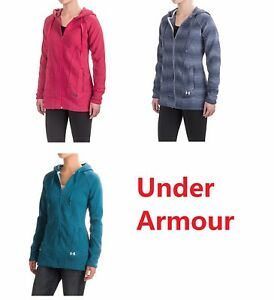 NWT $99  Under Armour Womens Wintersweet fleece Hoodie Top Full Zip XL
