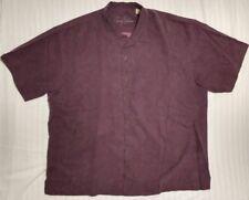 Tommy Bahama Vintage Hawaiian Shirt Mens XXL Silk Purple