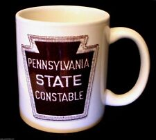 Coffee Mug Pennsylvania State Constable Ceramic Tea Cup 12 oz Cocoa Hot Beverage