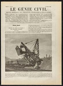 1884 - Bagger Wendepunkte Arbeitskondensator der Kanal Des Panama - Genie Civil