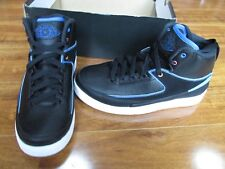NEW Nike Air Jordan 2 Retro Basketball Shoe BOYS 5.5Y Black/Blue 834276 015 $140