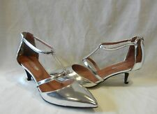 Jeffrey Campbell Women's Champagne Leather Strappy Heels Retail $148 size 7