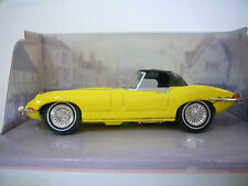 Dinky DY-1B Jaguar E Type - Yellow Soft Top Roadster - Mint Condition