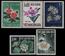 VIETNAM du SUD N°264/268** Fleurs, 1965 South Viet Nam Sc#261-265 Flowers MNH