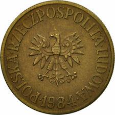 [#529929] Moneta, Polska, 5 Zlotych, 1984, Warsaw, EF(40-45), Mosiądz, KM:81.1