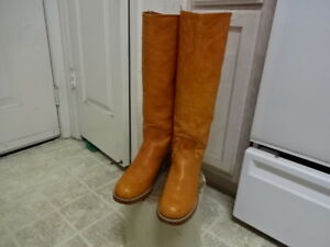 EXCELLENT COND FEW TIMES USED VINTAGE 70'S FRYE KNEE HIGH BOOTS WON 7.5 B CLEAN
