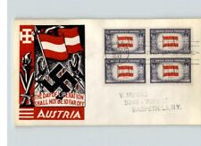 """Austria, Overrun Country, """" The Day of Liberation Shall not be so Far Off"""", Bl/4"""