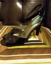 Fitzwell Shoes Womens Classic Pumps Black Leather Size 9 M Heels