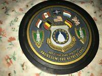 "5.5"" Rubber Puck Headquarters Command DET 2 1141 USAF NATO SpActySq Brunssum NLD"