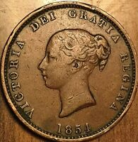 1854 NEW BRUNSWICK HALF PENNY TOKEN COIN