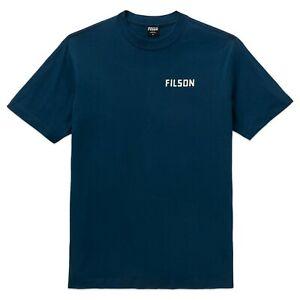 Filson Men's T-Shirt - Filson Ranger Bi Plane Logo t-shirt - Blue - 20205634