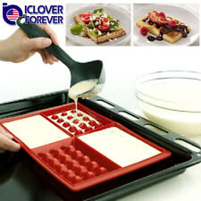 4-Cavity Mini Fancy Bundt Waffles Cake Cookie Pan Silicone DIY Mold Baking Mould
