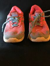 Girls Koolknit Pink And Gray Tennis Shoes Size 1