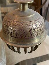 "Vintage Large Brass Buddist Bell 5"" Height"
