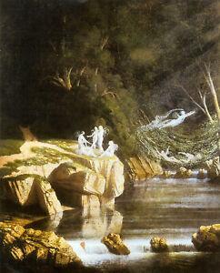 Fairies By A Rocky Stream Francis Danby Fairy Myth Poster Art Photo Print A4