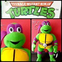 Vintage Teenage Mutant Ninja Turtles 2001 Donnie Stuffed Plush Toy Network TMNT