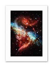 NEBULA SPACE GALAXY STAR MOUNT Picture Canvas art Prints