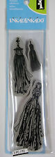 3 Tassels   Rubber Cling Stamps by Inkadinkado  NIP