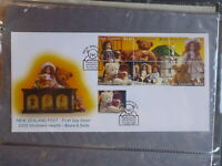 NEW ZEALAND 2000 CHILDRENS HEALTH DOLLS & BEARS SET 7 STAMPS FDC FIRST DAY COVER