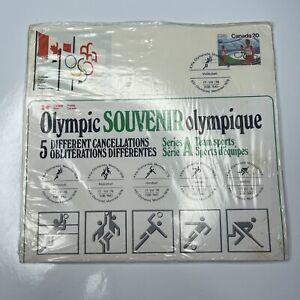 E Olympic 76 Souvenir 5 Cancellations FDC International Canada Series A