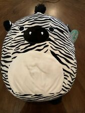 Nwt Squishmallow 16 inch large White/Black Zebra Super cute, soft Tony