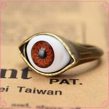 Trendy Womens Retro Vintage Evil Eye Finger Ring Eyeball Punk Goth Jewellery 1PC