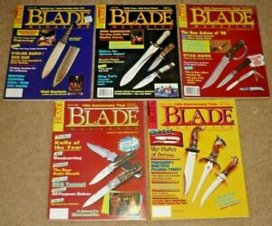 Lot of 5 BLADE Magazines Knife 1988 Vol. 15, #1, 2, 3, 5 & 6 Uncirculated NOS