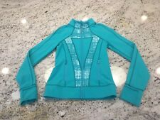 Ivivva size 10 girls Lululemon Perfect Your Practice jacket turquoise zip