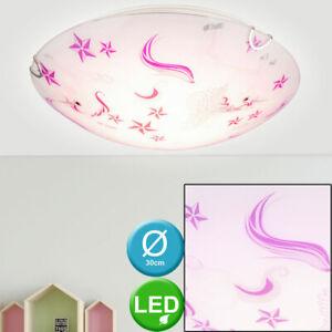 LED Einhorn Kinder Spiel Zimmer Decken Leuchte Mädchen Glas Lampe Sterne rosa
