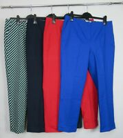 New Boden Kensington Turn - Up trousers Pants Size 14 - 22 red navy green blue